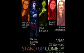 Dia 22 de Maio: Stand Up 'Só Mulheres' por 7€ no Lisboa Comedy Club!