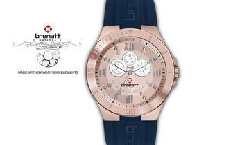Relógio Brenatt com cristais Swarovski Elements® - Modelo Capri por 14,89€ | Entrega em todo o País!