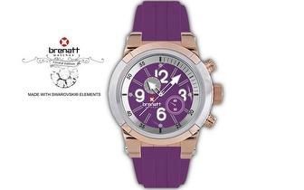 Relógio Brenatt com cristais Swarovski Elements® - Modelo Tanzanite por 14,89€ | Entrega em todo o País!