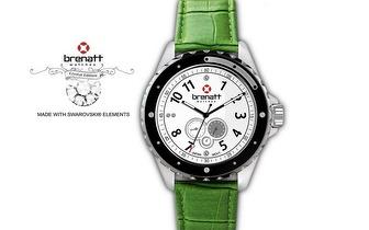Relógio Brenatt com cristais Swarovski Elements® - Modelo Emerald por 14,89€   Entrega em todo o País!