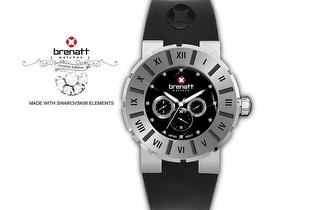 Relógio Brenatt com cristais Swarovski Elements® - Modelo Black Diamond por 14,89€ | Entrega em todo o País!
