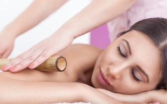 5 Massagens de Bambus + 5 Pressoterapias + 5 Rafiofrequências por 25€ no Estoril!