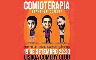 19 de Setembro: Stand Up Comedy 'Comioterapia' por 7€ no Lisboa Comedy Club!
