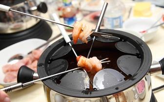 Tudo à discrição: Jantar Fondue de Peixe por 22€ na Marginal