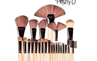 Conjunto 24 Pincéis de Maquilhagem Pretty-U™ por 18,90€ com entrega em todo o País!