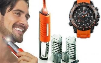 Conjunto Aparador de Pelos + Relógio Brenatt por 17,95€ com entrega em todo o País!