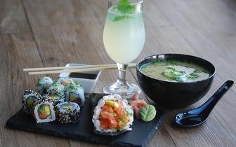 Sushi Fusão ao Almoço: Peças + Bebida ou Sopa por 9,50€ em Carcavelos!