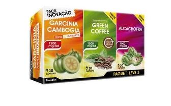Perca Peso: Garcinia + Café Verde + Alcachofra por 18,90€ com entrega em todo o País!