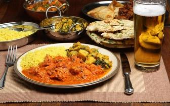 Comida Indiana ao Jantar para 2 pessoas por 27€ nos Restauradores!
