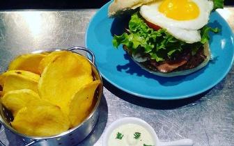 Petiscos & Hambúrguer Be Chill ou Vegetariano para 2 Pessoas por 16€ na Parede!