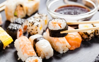 All You Can Eat de Sushi + Sobremesa ao jantar por 10,90€ em Alverca!