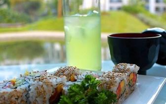 All You Can Eat de Sushi para 2 Pessoas + Bebidas + Sobremesas + Cafés por 27€ nas Laranjeiras ao Almoço!