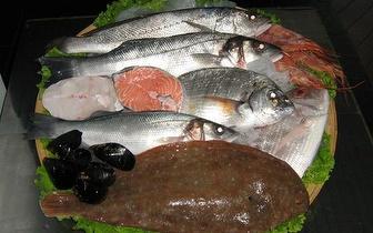 50% de desconto no peixe a peso!