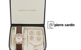 Conjunto Pierre Cardin® Golden Pearl + Relógio + Colar + 4 Brincos por 49,90€ com entrega em todo o país!
