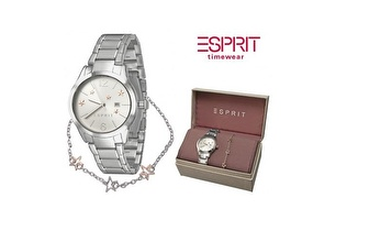 Conjunto Relógio Esprit® Lizzie Prata + Fio em Banho de Prata por 49,90€ com entrega em todo o país!