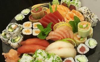 Fim de Semana: All You Can Eat de Sushi + Bebida + Sobremesa + Café ao Almoço por 22€ junto a São Sebastião!