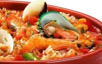 Menu de Arroz de Marisco para 2 Pessoas ao Jantar por 25€ em Cascais!