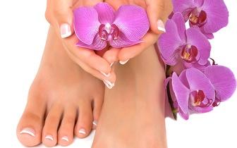 Promoção de manicure e pedicure! Vem cuidar das tuas mãos e pés!