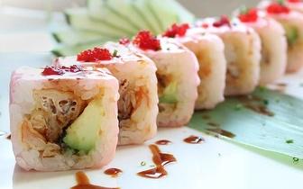 Sábados: Sushi de Fusão com 30% de Desconto Sobre a Ementa ao Almoço em Oeiras!