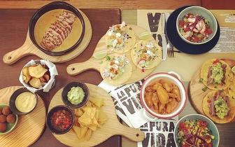Comida Mexicana com 30% de Desconto sobre a Ementa ao Jantar em São Bento!