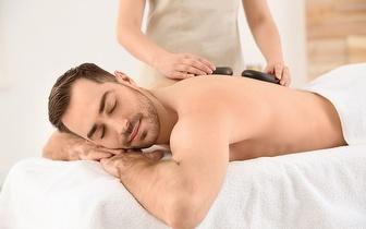 Massagem com Pedras Quentes às Costas e Pernas por 19€ nas Amoreiras!
