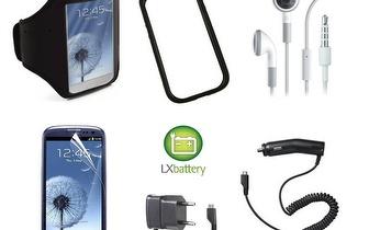 Kit de 6 acessórios para Samsung Galaxy S3, apenas 15,90€ na LXbattery