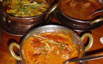Entrada + 2 por 1 no prato + bebida indiana ao Almoço em Sintra!