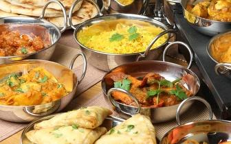 Entrada + 2 por 1 no prato + bebida indiana ao Jantar em Sintra!