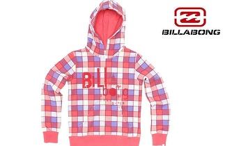 Camisola BILLABONG Quadriculado-Rosa com Capuz, para adulto ou criança, por apenas 19,50€!