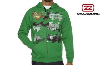 Casaco BILLABONG Waves Verde com Capuz, para adulto ou criança, por apenas 19,50€! Entrega em todo o país!