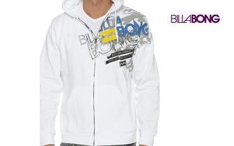 Casaco BILLABONG Miami Branco com Capuz, para adulto ou criança, por apenas 19,50€! Entrega em todo o país!