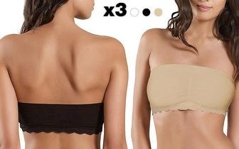 Pack 3 Unidades Strap Nix Bra sem alças em 3 cores por apenas 12,90€!