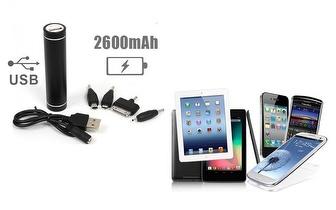 Carregador USB Power Bank para smartphones, tablets, câmaras digitais e muito mais por 13,50€! Entrega em todo o país!