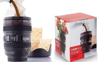Caneca Objetiva de Câmara Fotográfica por apenas 7,95€! Entrega em todo o país!