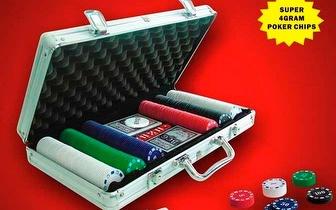 Mala de Poker 300 fichas Profissional, por apenas 18,50€!