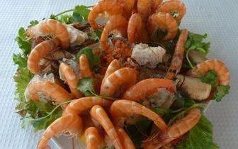 Mariscada Real ao almoço com Camarão + Sapateira + 2 Lagostas para 2 pessoas por 28€!