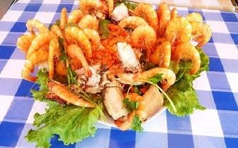 Mariscada Real ao jantar com Camarão + Sapateira + 2 Lagostas para 2 pessoas por 28€!