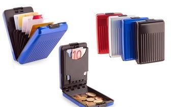 Carteira de Alumínio Especial para Cartões, Notas e Moedas por apenas 6,90€! Entrega em todo o país!