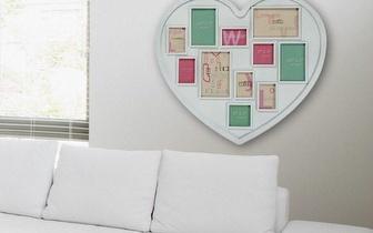 Porta-Fotos Coração Branco ou Vermelho para 11 Fotos por apenas 17,95€!
