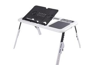 Mesa para Portátil dobrável com diferentes posições e luz por apenas 18,90€!