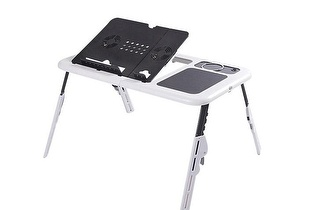 Mesa para Portátil Dobrável com Ventilador, por apenas 18,90€!