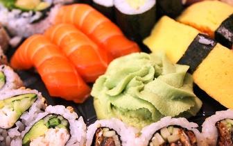 Take-Away de 2 Caixas com 20 Sushi + 20 Sashimi por 25€ ao Jantar!