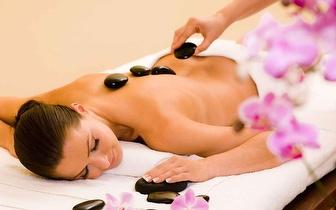 Massagem Corpo Inteiro de Pedras Quentes por 16€!