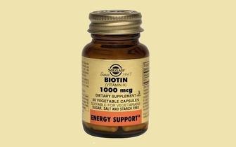 Suplemento Alimentar Solgar - Biotina por 13€ com portes incluídos!