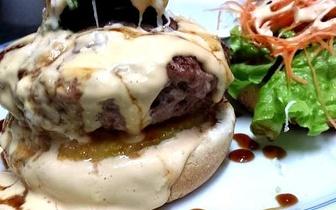 Menu de Hambúrguer Gourmet ao Almoço para 2 Pessoas por 25€ em Picoas!