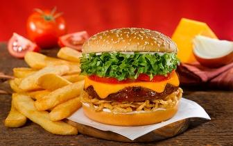 Menu Completo de Hambúrgueres para 2 Pessoas por 10€ em Benfica!