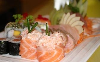 Sushi de Fusão para 2 Pessoas ao Almoço: 40 Peças + Bebidas + Cafés por 19,90€, em São Domingos de Rana!