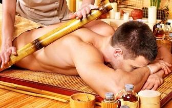 Massagem Bamboo Terapia de 60min por 18€ em Algés!