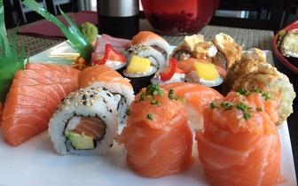 Sushi de Fusão para 2 Pessoas ao Almoço: 40 Peças + Cafés por 19€, em Mem Martins!