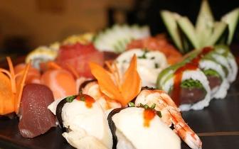 Sushi de Fusão para 2 Pessoas ao Almoço: 45 Peças + Cafés por 24€ em São Domingos de Rana!